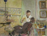 Dr Georges Viau in his Dental Office, Attending Annette Roussel, 1914 Fine Art Print