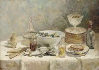 Still Life with Salad, c. 1890 Fine Art Print