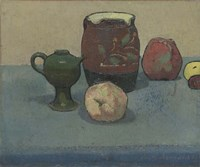 Stoneware Pot and Apples, 1887 Fine Art Print