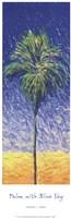 Palm With Blue Sky Fine Art Print
