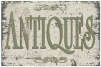 Vintage Signs - Antiques Fine Art Print