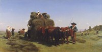 Haymaking in Auvergne, 1855 Fine Art Print