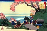 Three Men Admire the Cherry Blossoms Fine Art Print
