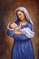 Mary And Baby Jesus Fine Art Print