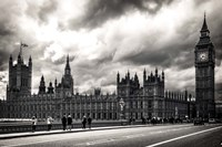 Houses of Parliament B/W Fine Art Print