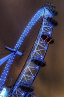London Eye Lit up in Blue Fine Art Print