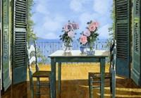Le Rose E Il Balcone Fine Art Print