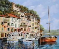 La Barca Rossa Alla Calata Fine Art Print