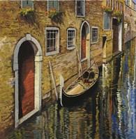 La Gondola Sul Canale Fine Art Print