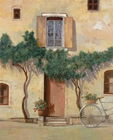 Mezza Bicicletta Sul Muro Fine Art Print