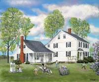Connecticut Home Stead Fine Art Print