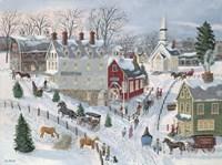 Oak Ridge in Winter Fine Art Print