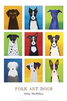 Folk Art Dogs Fine Art Print
