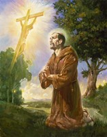 Saint Francis Of Assisi Fine Art Print