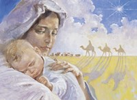 Mary With Baby Jesus Fine Art Print