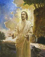 Jesus In Front Of Cave Fine Art Print