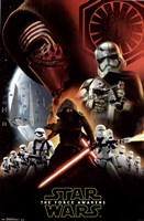 Star Wars 7 TFA - Dark Side Framed Print