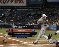 David Ortiz hits his 500th career MLB home run on September 12, 2015 at Tropicana Field Fine Art Print