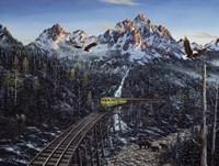 Train & Eagle Fine Art Print