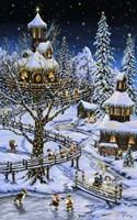 Woodland Holiday Framed Print