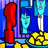Homage To Modigliani 2 Fine Art Print