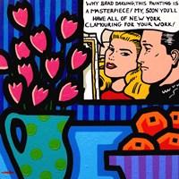 Still Life With Lichtenstein Framed Print