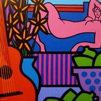 Still Life With Matisse 1 Framed Print