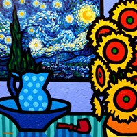 Still Life With Starry Night Fine Art Print