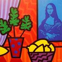 Still Life With Matisse and Mona Lisa Framed Print