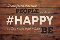 #HAPPY Framed Print