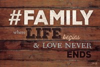 #FAMILY - Where Life Begins Framed Print