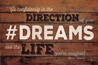 #DREAMS - Live the Life Framed Print