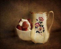 Strawberries And Cream Fine Art Print