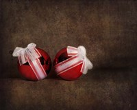 Two Red Ornaments Still Life Fine Art Print