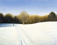 Footsteps Through the Snow Fine Art Print