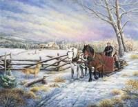 Sleigh Ride Home Fine Art Print