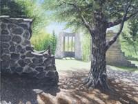 The Abby Ruins, Mackenzie King Estate Fine Art Print