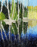 Birch Tree Reflections Fine Art Print