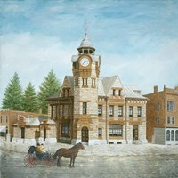 Arnprior Post Office with Horse and Buggy Fine Art Print