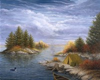 Camping on the Ottawa River Fine Art Print