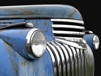 Chevy Grill Blue Fine Art Print