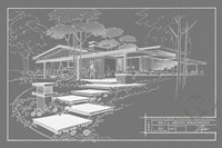 301 Cypress Dr. Grayline - Inverse Framed Print