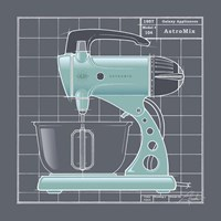 Galaxy Mixer - Aqua Fine Art Print