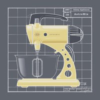 Galaxy Mixer - Yellow Fine Art Print