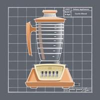 Galaxy Blender - Tangerine Framed Print