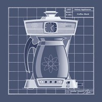 Galaxy Coffeemaid - Blueprint Fine Art Print