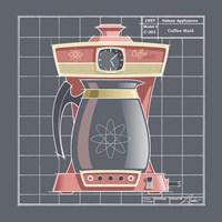 Galaxy Coffeemaid - Flamingo Framed Print
