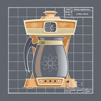 Galaxy Coffeemaid - Tangerine Framed Print