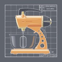 Galaxy Mixer - Tangerine Framed Print