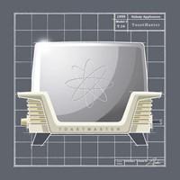 Galaxy Toaster - Ivory Fine Art Print